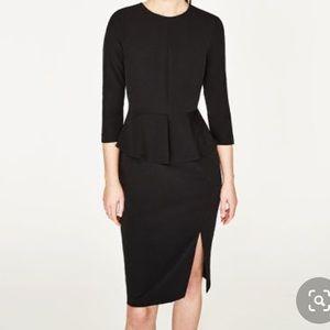 Zara Woman Peplum Dress